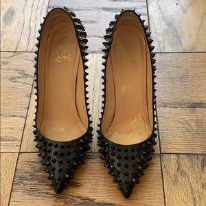 Authentic Christian Louboutin Pigalle Spike Pumps